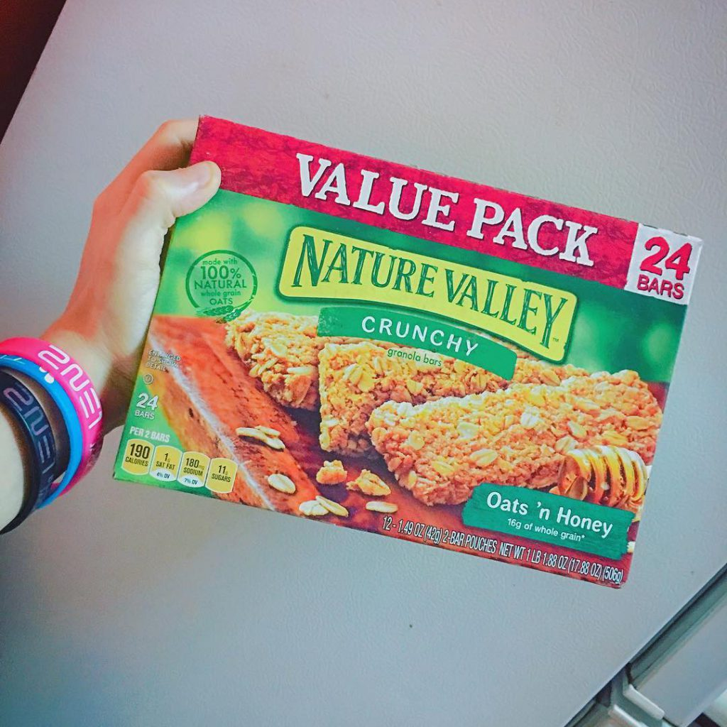 nature valley oats and honey nutrition label